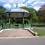 Bandstand with trees in background resized